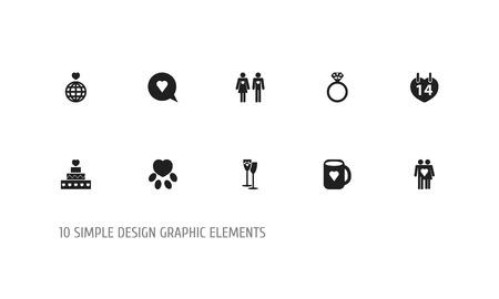 Set Of 10 Editable Amour Icons. Illustration