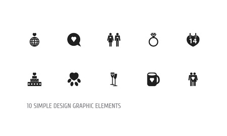 Set Of 10 Editable Amour Icons. Illustration