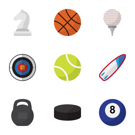 Set Of 9 Editable Fitness icons and symbols design template.