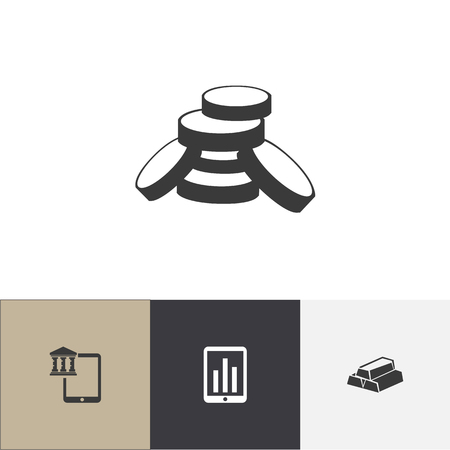 Set Of 4 Editable Finance icons and symbols design template.