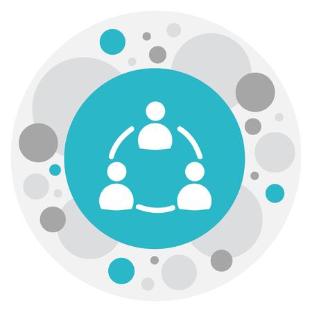 Illustration Of Unity Symbol On Staff Structure Icon.