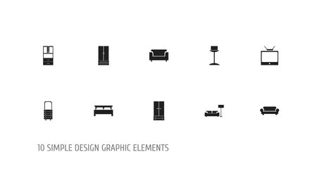 Interieur pictogrammen.