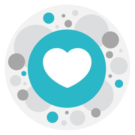 感情アイコンを愛のシンボルのベクター イラストです。プレミアム品質は、トレンディなフラット スタイルの魂の要素を分離しました。  イラスト・ベクター素材