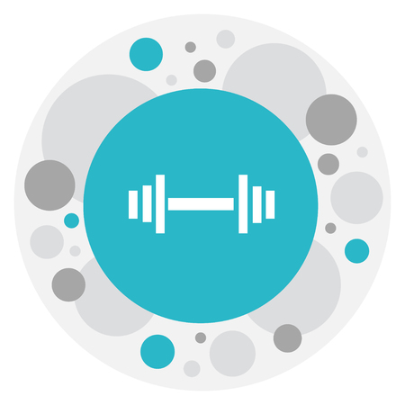 Vector Illustration Of Exercise Symbol On Barbell Icon