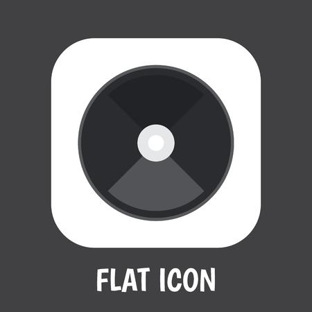 Vectorillustratie van elektrisch symbool op schijf platte pictogram. Premiumkwaliteit geïsoleerd grinderelement in trendy vlakke stijl.