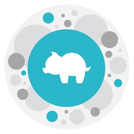 Vector Illustration Of Folks Symbol On Piggy Icon. Premium Quality Isolated Moneybox Element In Trendy Flat Style.