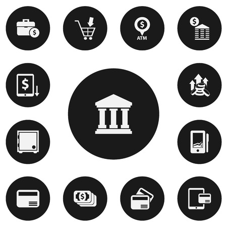Set Of 13 Editable Investment Icons. Includes Symbols Such As Increase, Increase Dollar, Edifice And More. Can Be Used For Web, Mobile, UI And Infographic Design.