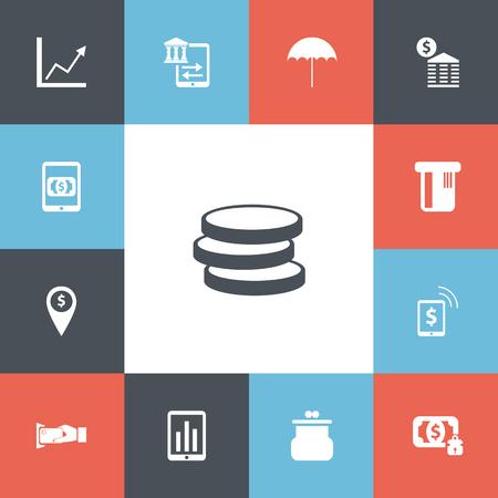 Set Of 13 Editable Finance Icons.