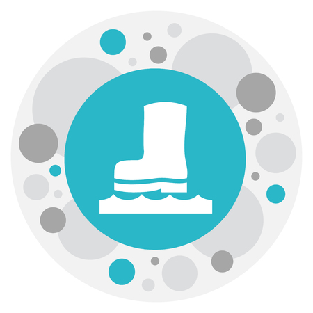 Vector Illustration Of Rubber Boot Icon