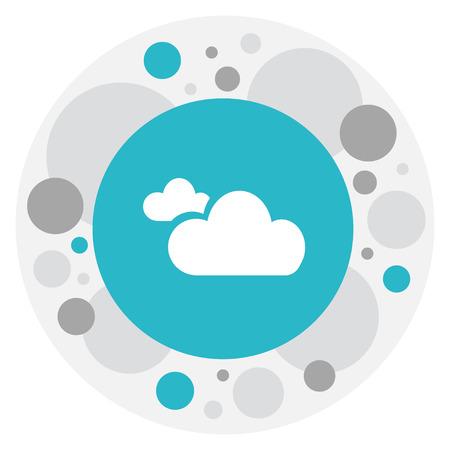曇り空アイコン上の気候シンボルのベクトルイラストレーション。トレンディなフラットスタイルのプレミアム品質孤立霧要素。