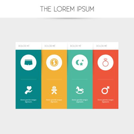 Ensemble de 8 icônes de membres modifiables. Comprend des symboles tels que magicien, signe de femme, poney, etc. Peut être utilisé pour la conception Web, mobile, UI et infographique.