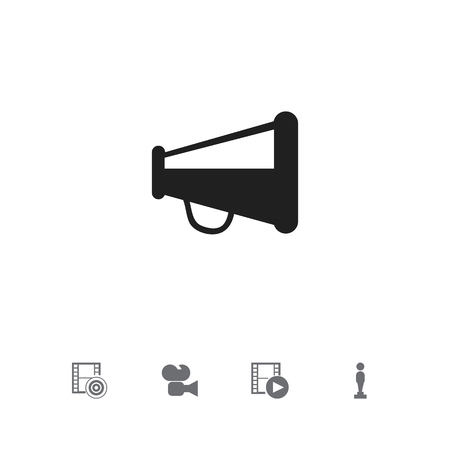 Set Of 5 Editable Filming Icons. Includes Symbols Such As Oscar, Record, Camcorder And More. Can Be Used For Web, Mobile, UI And Infographic Design.