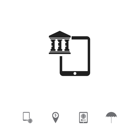 Set Of 5 Editable Finance Icons. Includes Symbols Such As Exchange Center, Insurance, Network And More. Can Be Used For Web, Mobile, UI And Infographic Design.