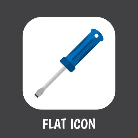 Vector Illustration Of Instrument Symbol On Screwdriver Flat Icon Illustration