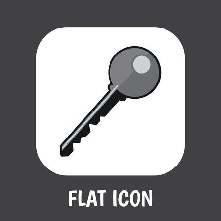Vector Illustration Of Security Symbol On Key Flat Icon. Premium Quality Isolated Open  Element In Trendy Flat Style. Illustration