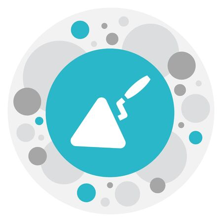 Vector Illustration Of Instrument Symbol On Trowel Icon. Premium Quality Isolated Spatula Element In Trendy Flat Style.