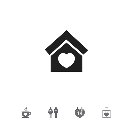 Set Of 5 Editable Passion Icons. Includes Symbols Such As Married, Building, Coffee Cup And More. Can Be Used For Web, Mobile, UI And Infographic Design.
