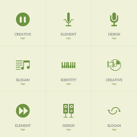 Set Of 9 Editable Sound Icons Includes Symbols Such As Memory