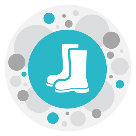 Vector Illustration Of Gardening Symbol On Rubber Boot Icon. Premium Quality Isolated Waterproof Shoes Element In Trendy Flat Style.