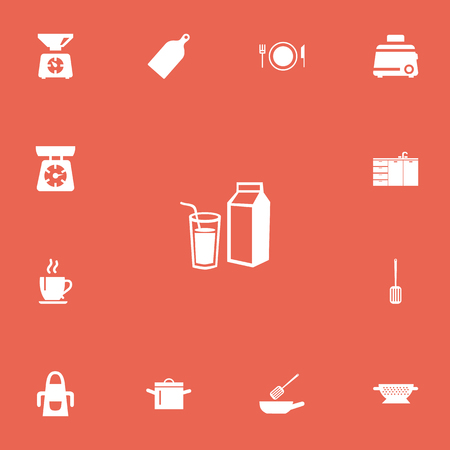 Set Of 13 Editable Restaurant Icons.