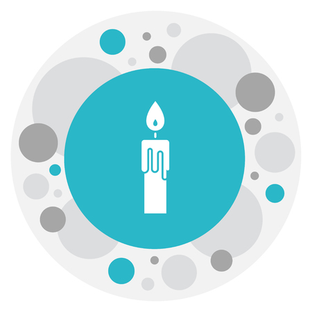 Vector Illustration Of Religion Symbol On Candle Icon. Premium Quality Isolated Fire Wax Element In Trendy Flat Style.