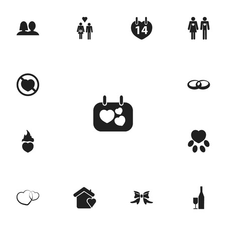 Set of editable passion icons. Includes symbols such as claw, matrimony, home and more. Can be used for web, mobile, UI and infographic design. Illusztráció