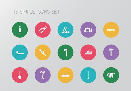 Set of 15 editable apparatus icons.