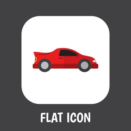 Vector Illustration Of Car Symbol On Automobile Icon Flat Premium