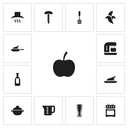 Set of 13 editable cook icons. Can be used for web, mobile, UI and infographic design.