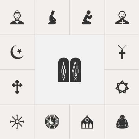 Set Of 13 Editable Dyne Icons Includes Symbols Such As David