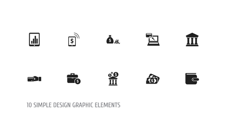 Set of 10 editable investment icons. Includes symbols such as building, online, case and more. Can be used for web, mobile, UI and infographic design.