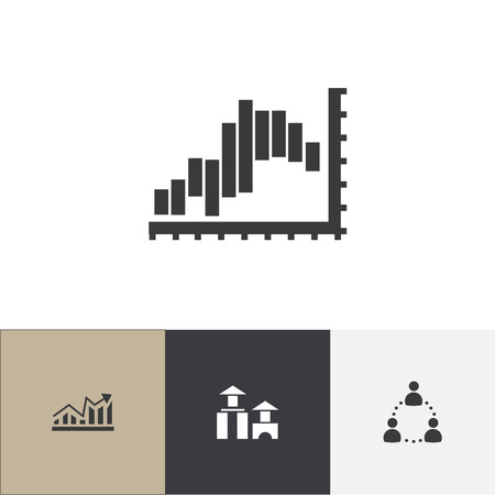 Set of 4 editable analytics icons. Includes symbols such as communication, structure, report and more. Can be used for web, mobile, UI and infographic design.