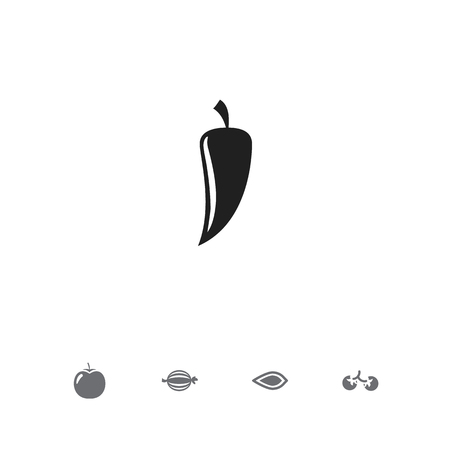 Set of 5 editable food icons. Includes symbols such as almond, vegetable, pepper and more. Can be used for web, mobile, UI and infographic design. Stock Illustratie