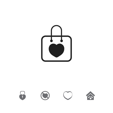 Set of 5 editable love icons. Includes symbols such as building, no love, beau and more. Can be used for web, mobile, UI and infographic design. Stock Illustratie