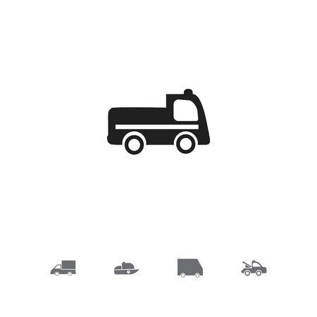 Set of 5 editable transportation icons. Includes symbols such as truck, lorry, car and more. Can be used for web, mobile, UI and infographic design.