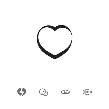 Set of 5 editable passion icons. Includes symbols such as engagement, broken soul, rings and more. Can be used for web, mobile, UI and infographic design.