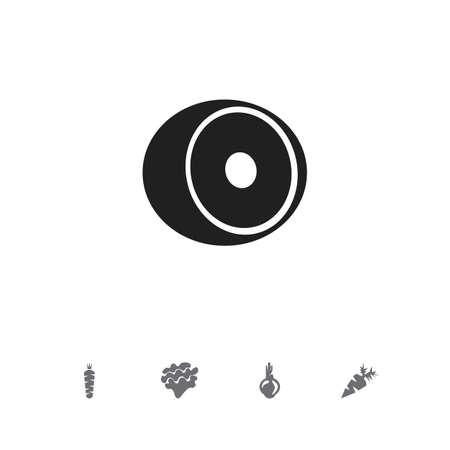 Set mit 5 bearbeitbaren Beerensymbolen. Enthält Symbole wie Allium, Limette, Wurzelgemüse und mehr. Kann für Web-, Mobile-, UI- und Infografik-Design verwendet werden.