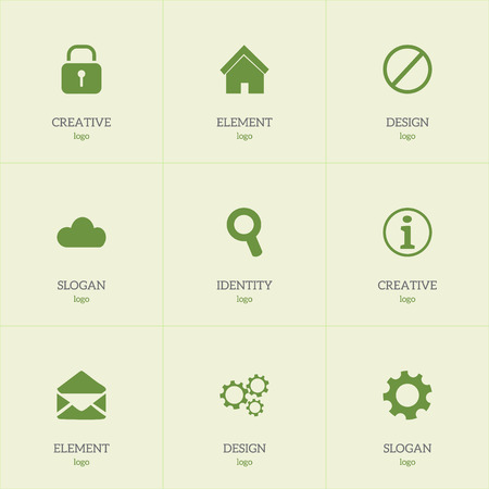 Set of 9 editable web icons. Includes symbols such as information, padlock, cloud and more. Can be used for web, mobile, UI and infographic design.
