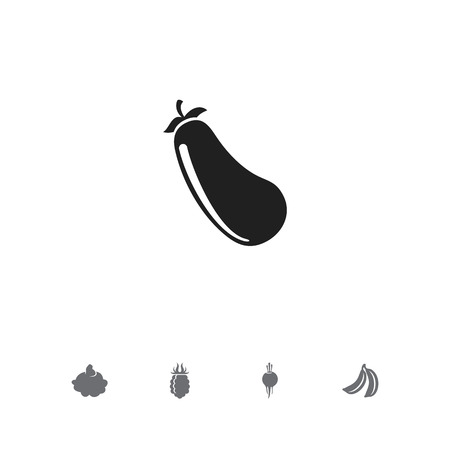 Set of 5 editable cooking icons. Includes symbols such as beet, eggplant, banana and more. Can be used for web, mobile, UI and infographic design.
