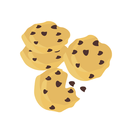 Cookie icon vector isolated on white background