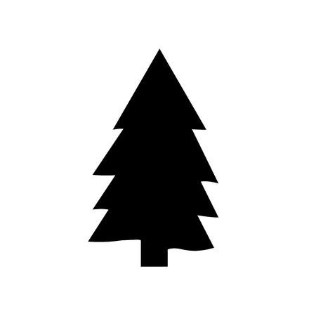 Pine icon vector isolated on white background Ilustração