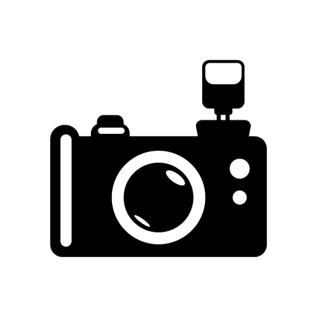 Reflex photo camera icon vector isolated on white background for your web and mobile app design, Reflex photo camera logo concept Logo