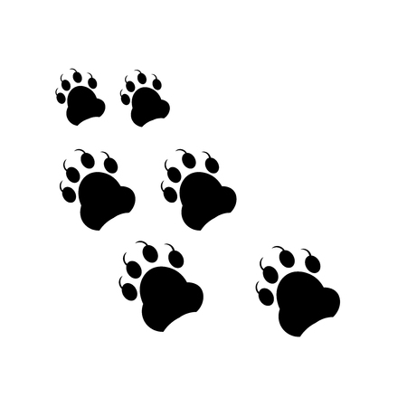 Footprint icon vector isolated on white background for your web and mobile app design, Footprint logo concept