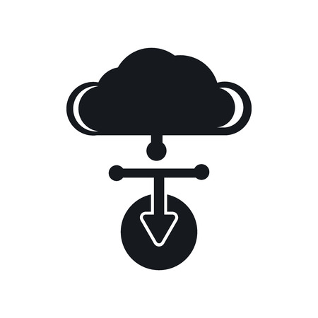 Cloud computing icon vector isolated on white background for your web and mobile app design, Cloud computing logo concept