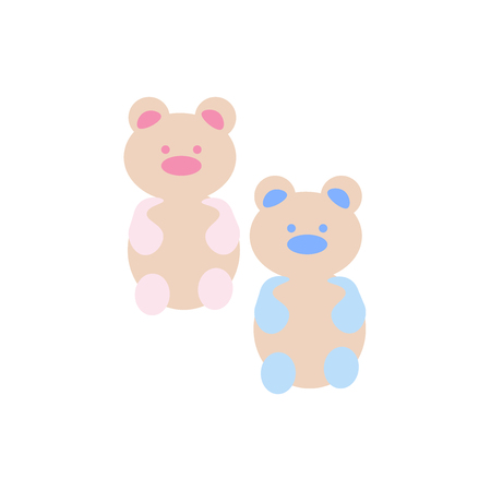 Gummy bear icon vector isolated on white background 向量圖像