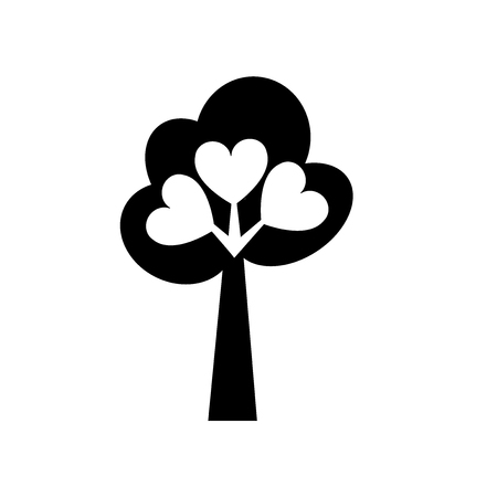 Tree of love icon vector isolated on white background for your web and mobile app design, Tree of love logo concept