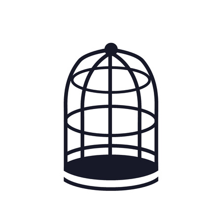 Cage icon vector isolated on white background for your web and mobile app design, Cage logo concept