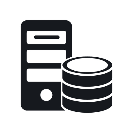 Server icon vector isolated on white background for your web and mobile app design, Server logo concept