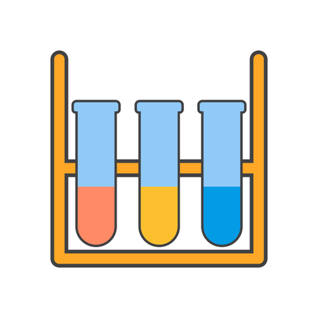 Test tube icon vector isolated on white background for your web and mobile app design, Test tube logo concept