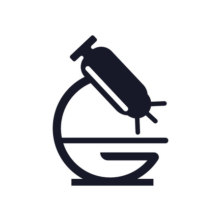 Microscope icon vector isolated on white background for your web and mobile app design, Microscope logo concept